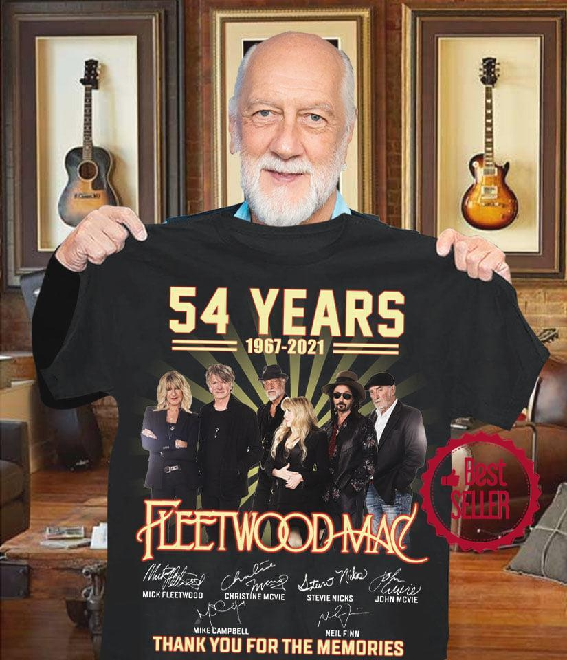 54 Years 1967 2021 Fleetwood Mac Thank You For The Memories shirt